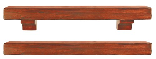 Buy Discount Pearl Mantels 412-60-50 Shenandoah Pine 60-Inch Fireplace Mantel Shelf, Rustic