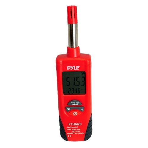 PYLE Meters PTHM20 Temperature and Humidity Meter with Dew Point and Wet Bulb Temperature