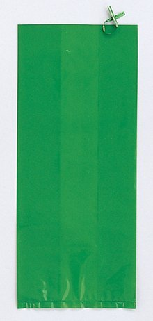 Green Large Cello Treat Bags - 20/Pack (11.25in.x5in.)