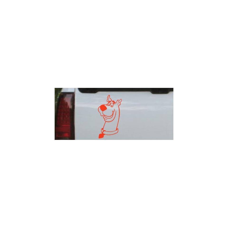 Scooby Doo Cartoons Car Window Wall Laptop Decal Sticker    Red 12in X 6.5in