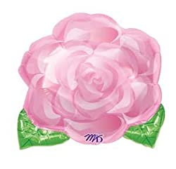 """Single Source Party Supplies - 18"""" Pink Blooming Rose Junior Shape Mylar Foil Balloon by Single Source Party Supplies"""