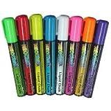 Wet Erase Chisel Tip Chalk Marker, 8 Color Pack