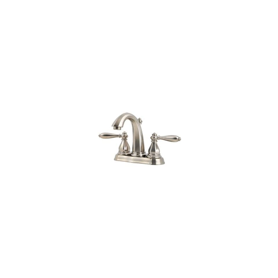 Price Pfister GT48 RP0K Price Pfister Portola Centerset Bathroom Sink Faucet Brushed Nickel