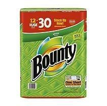 Bounty Huge Roll White 12 Count