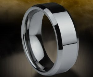 TUNGSTEN RINGS FOR MEN SIZE 9 - (Tungsten Carbide Ring 8mm) High Quality Polished Tungsten wedding band, Tungsten wedding ring or Anniversary Ring. Tungsten Mens Rings are comfort fit