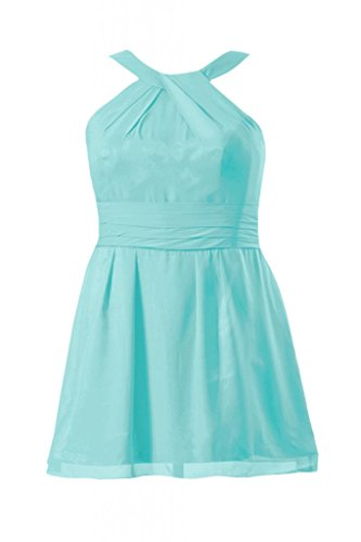 Daisyformals Short Bridesmaid Dress W/ Straps(Bm131230)- Tiffany Blue