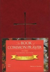 1979 Book Of Common Prayer Economy Edition, Imitation Leather Wine Color