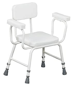 Shower Stool Perching Extra Low With Padded Vinyl Seat by Patterson Medical