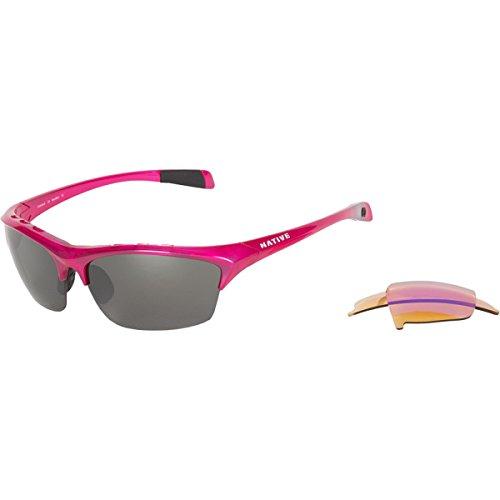 Native Eyewear Endura Interchageable Polarized Sunglasses Pink/Silver Reflex, One Size
