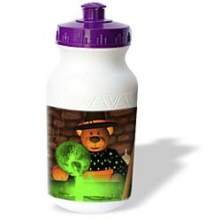 BK Dinky Bears Cartoon Halloween - Brewing Witch - Water Bottles