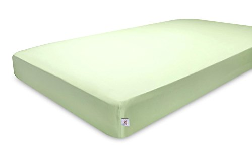GUND Babygund Deluxe 300 Thread Count Crib Sheet, Pistachio, 28'' By 52''