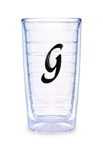 Tervis Tumbler Black Laser Twill Initial - G 16-Ounce Double Wall Insulated Tumbler Set Of 4 front-777014