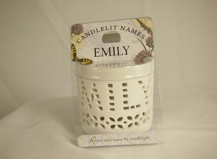 History & Heraldry Candlelit Names - Emily - Tea Light Lite Candle 001850073-HH zero history