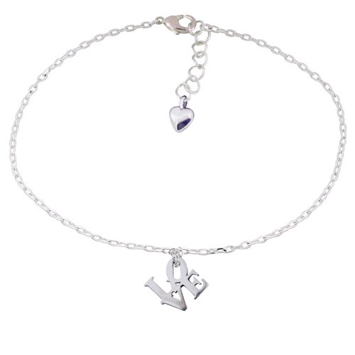 Gifts Ideas For Girlfriend:Chuvora .925 Sterling Silver LOVE Word ...