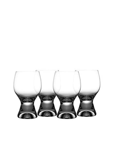 Jay Imports Set of 4 Gina Old Fashioned Glasses, Clear