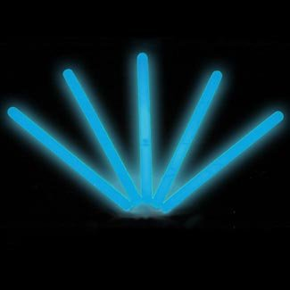 "4"" Lumistick Glow Stick Light Sticks Blue (Tube of 25)"