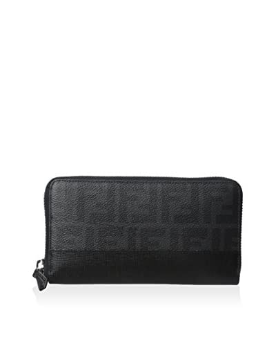 Fendi Men's Zucca Coated Canvas Continental Travel Wallet, Black