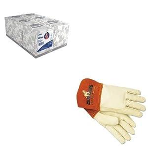 KITKIM21271MPG4950M - Value Kit - Memphis Mustang Mig/Tig Welder Gloves (MPG4950M) and KIMBERLY CLARK KLEENEX White Facial Tissue (KIM21271) from Memphis