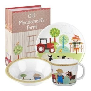 Little Rhymes Old MacDonalds Farm Melamine 3-Piece Childrens Breakfast Set, Multi-Coloured