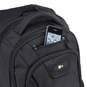 Top loading pocket of the Case Logic BEBP-115 holds smartphone