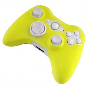 258Stickers® Silicone Case For Xbox 360 Wireless Controller Shine Yellow