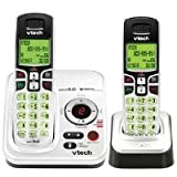 Vtech DECT 6.0 Expandable 2-Handset Cordless Phone System with Digital Answering Device and Caller ID (CS6229-2) ~ VTech