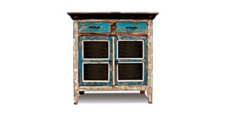 Crafters & Weavers Distressed Solid Wood Sideboard Cabinet / Entry Way Console / Bookcase / China Cabinet