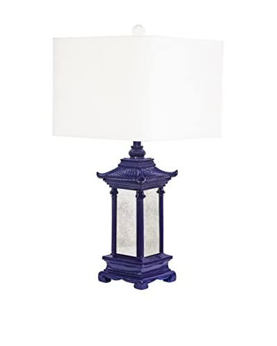 Couture Pagoda 1-Light Table Lamp, High Gloss Indigo
