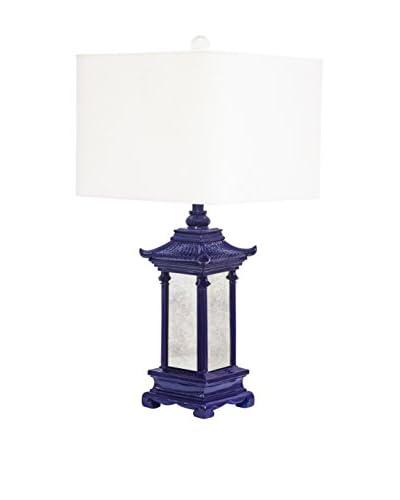 Couture Pagoda 1-Light Table Lamp, High Gloss Indigo