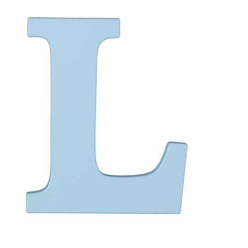 "Wooden Letter ""L"" Hanging Initials Color: Sky Blue - 1"