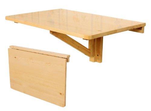 Table murale rabattable en bois, table pliable de cuisine, table pour les enfants, couleur naturelle, So-FWT03-N