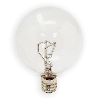 GE 17722-12 25 Watt Decorative Candelabra Globe G16.5 Light Bulb, Crystal Clear, 12-Pack