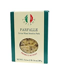 La Piana Farfalle Durum Wheat Pasta, 1 Pound 1.6 Ounce