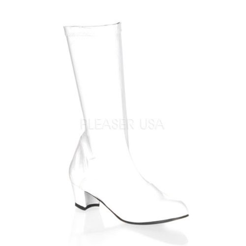 Child Gogo Boot White Stretch Patent -180
