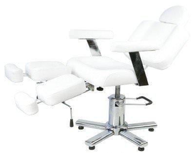 fauteuil fresno blanc avec appui tete et repose pieds. Black Bedroom Furniture Sets. Home Design Ideas