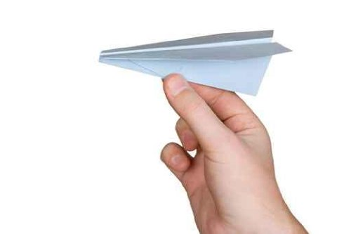 Hand and Paper Plane, Isolated on White Background - 72
