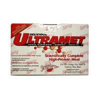 Champion Nutrition UltraMet Scientifically Complete High-Protein Meal Strawberry 2.7-Ounce Packets 20-Count