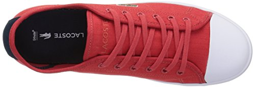 Lacoste Women's Ziane 316 1 Fashion Sneaker, Red, 7 M US
