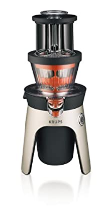 KRUPS ZB500E Infinity Slow Juice Extractor with 2 Stainless Steel Baskets for Juices and Sauces/Smoothies, Silver