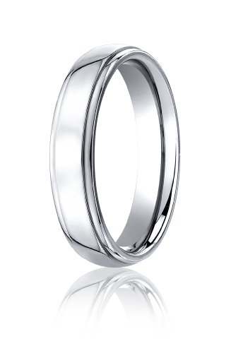 Cobalt Chrome, 5mm Comfort-Fit High Polished Design Ring (sz 9)