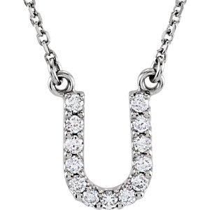 Genuine IceCarats Designer Jewelry Gift 14K White Gold Diamond Necklace 4 Inch Diamond Necklace In 14K White Gold