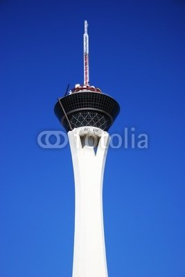 """Wallmonkeys Peel and Stick Wall Decals - Stratosphere Tower - 48""""H x 32""""W Removable Graphic"""