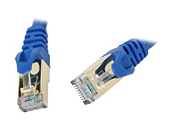 Rosewill 3-Feet Cat 7 Shielded Twisted Pair Networking Cable - Blue (RCW-3-CAT7-BL)