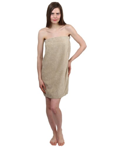 Towelselections Cotton Terry Bath Towel Wrap For Women And Men Made In Turkey Small/Medium Taupe front-970329
