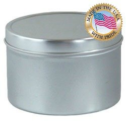 16 Oz Seamless Candle Tins Per 12