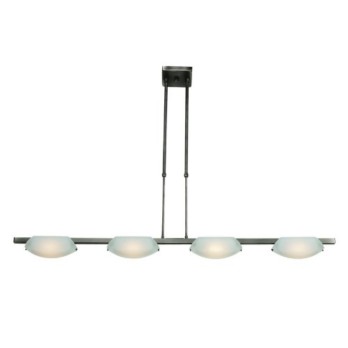 B000NK9B8E Access Lighting 63958-MC/FST 4 Light Nido SemiFlush Island