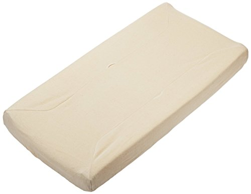 "TL Care Organic Cotton Velour Fitted Contoured Changing Pad Cover, Natural, 17"" x 35"" x 5"""