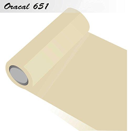 INDIGOS-Oracal-651-Orafol-glnzend-fr-Kchenschrnke-und-Dekoration-Autobeschriftung-Schutzfolie-Folie-5-m-Breite-63-cm-Farbe-23-creme-ORACAL651-1-5mx63-23