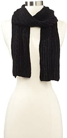 Isotoner Women's Chenille Scarf, Black, One Size