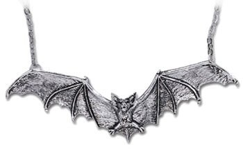 Gothic Bat Necklace By Alchemy Gothic